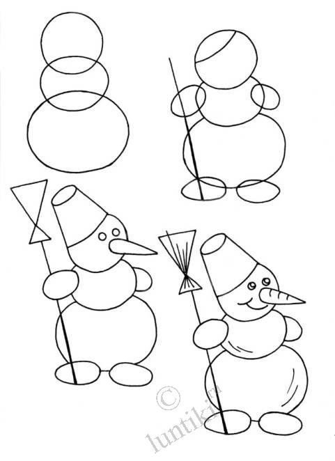 "Как нарисовать снеговика? "" Planeta - Oblepihi"