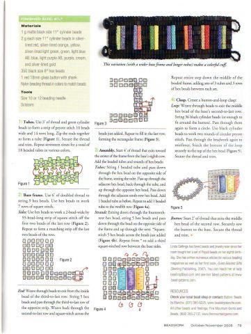 схема плетения браслетов из бисера.