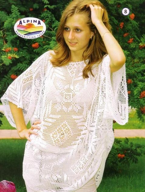 филейное вязание крючком кофты платья схемы бесплатно