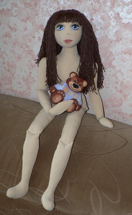 Выкройка текстильной куклы Мишель.
