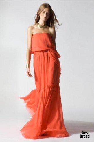 модные фасоны длинных платьев.