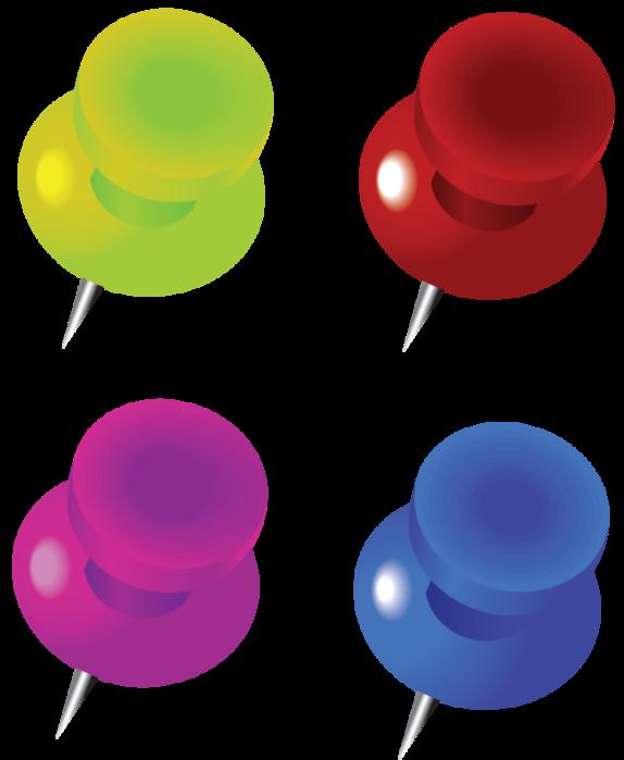 Кнопка канцелярская клипарт