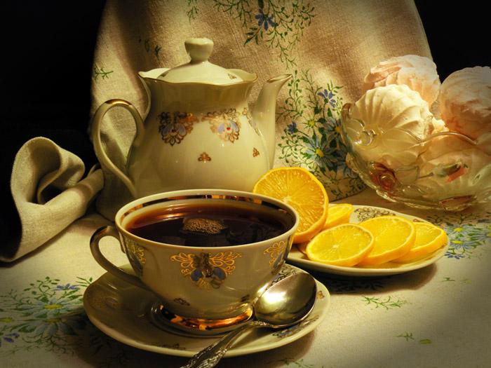 Открытка за чашкой чая, идеи открыток