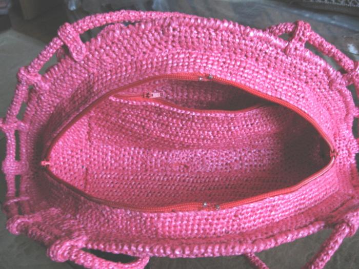 Серия сообщений.  Мои сумки из полиэтиленовых лент.