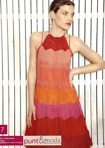 пляжные платья спицами схемы описания - Выкройки одежды для детей и...