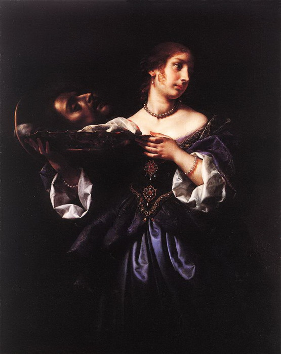 Карло  Дольчи  Salome with the Head of St John the Baptist 1665-70 (555x700, 70Kb)