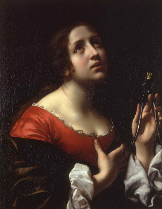 Карло Дольчи  Saint Apollonia, ca. 1670s  (543x700, 75Kb)
