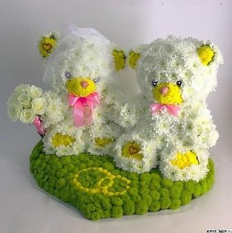 Цветы на флористической губке своими руками фото 853