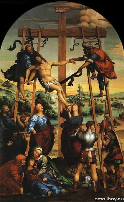 Снятие с креста, 1505  Пинакотека Сиены (431x700, 103Kb)