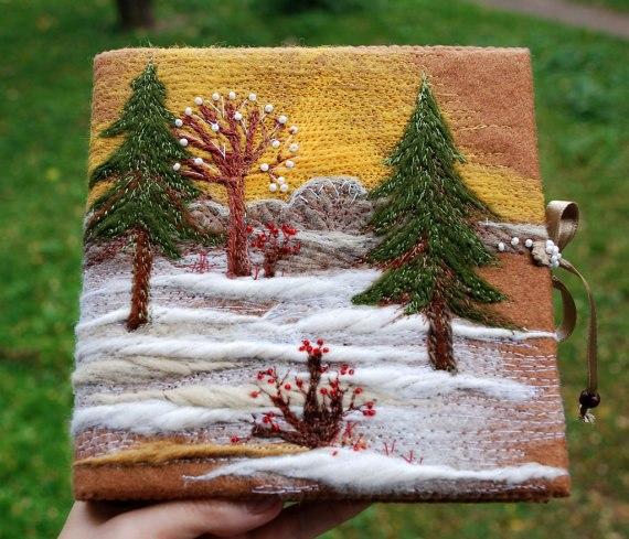 Чудеса своими руками: пейзажи из ниток Красота своими руками Dudu