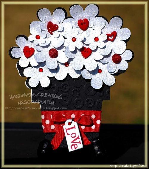 Картинки надписями, открытка цветок в горшке своими руками