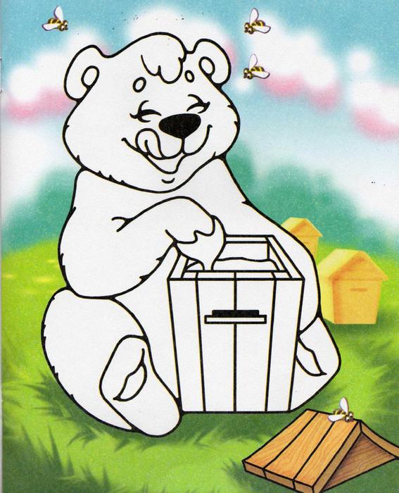 конечно его нарисовать картинку мишка с медом карандашом времена
