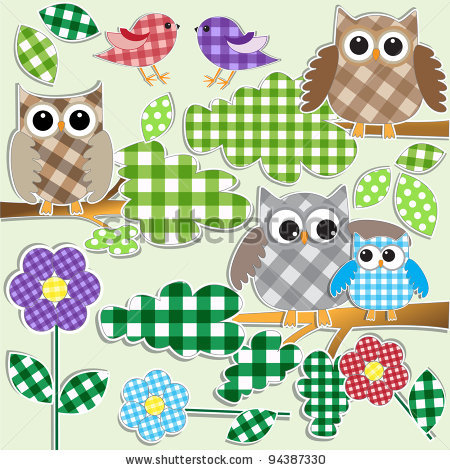 stock-vector-textile-stickers-of-owls-and-birds-in-forest-vector-set-94387330 (450x470, 87Kb)