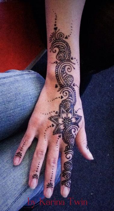 мехенди рисунки эскизы фото на руке