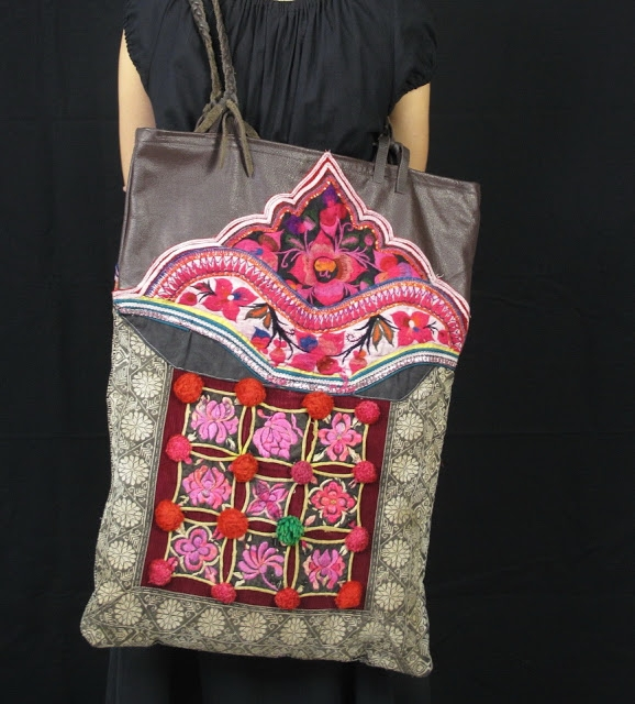 Boho Bag Vintage Hill Tribe Fabric and Genuine Leather 3 (578x640, 234Kb)