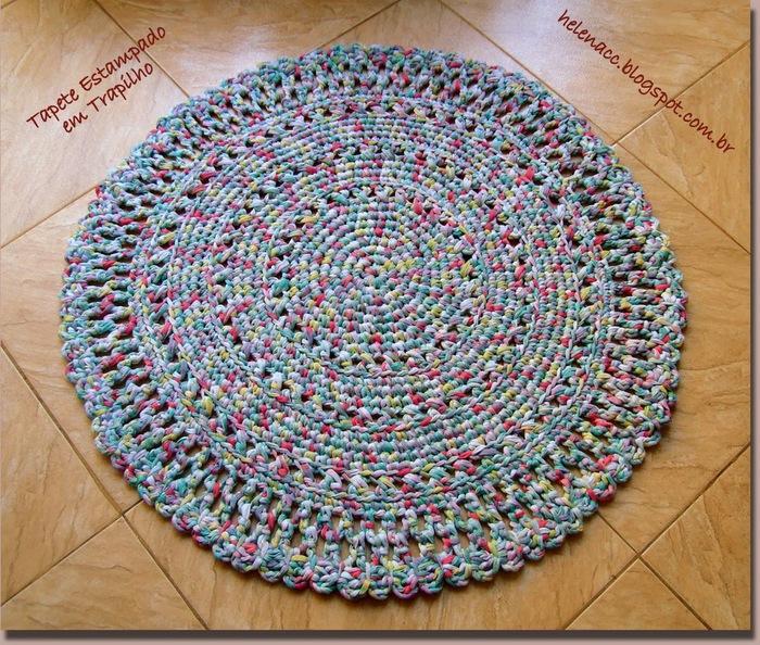 Коврики крючком из полосок ткани схемы