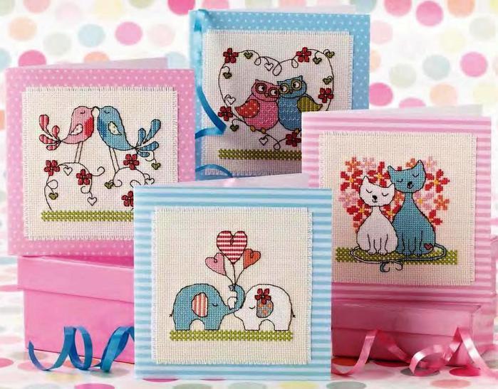 Картинки для вышивки открыток, делая ручную открытка