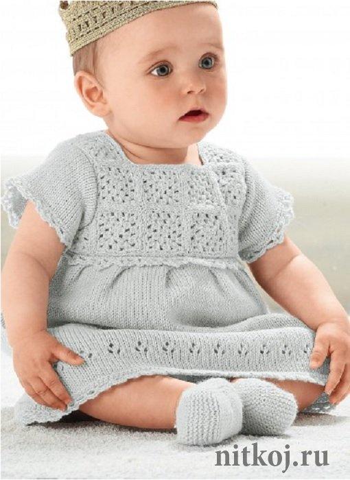 платье спицами для девочки самое интересное в блогах