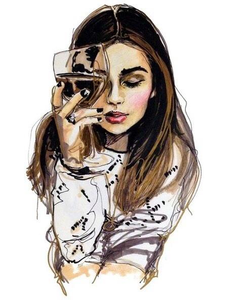 картинки с девушками красивые нарисованные