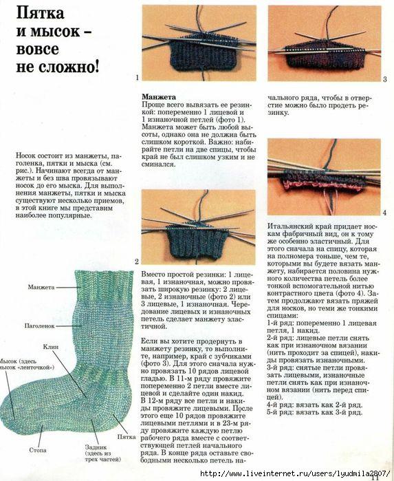 фда научиться вязать носки в картинках невестка