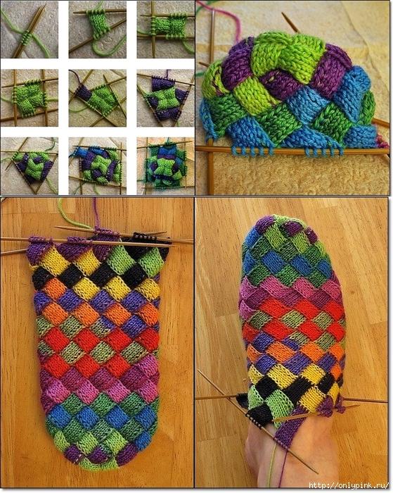 идея вязания необычных носков самое интересное в блогах