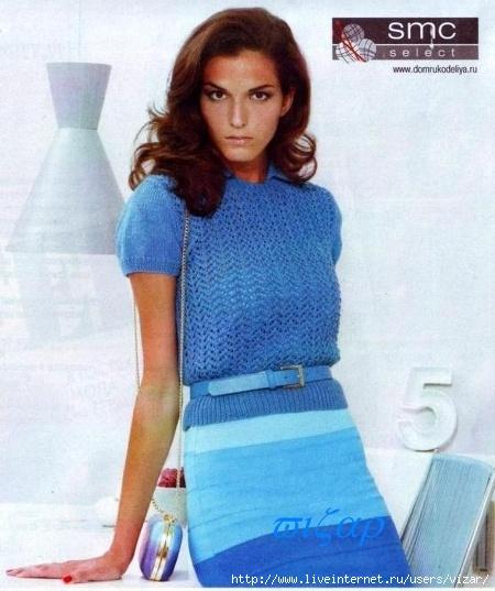 Вязание простые модели, вязание спицами туники платья 5