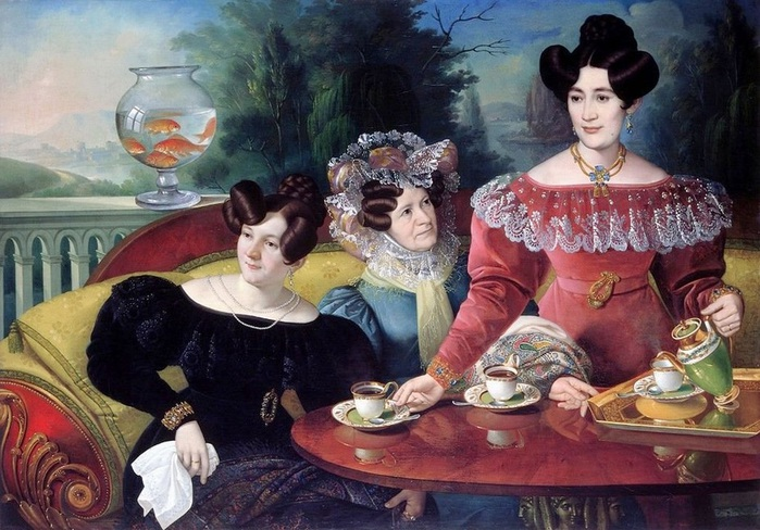 1Three Ladies of the Moscon Family__Jozef Jakob Tominc (1829) (700x488, 146Kb)