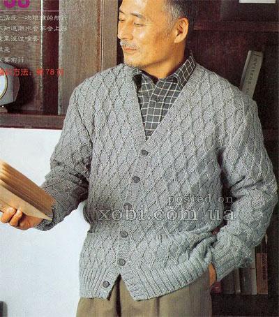 d4ad2c0f379 мужской жакет схема вязания - Самое интересное в блогах