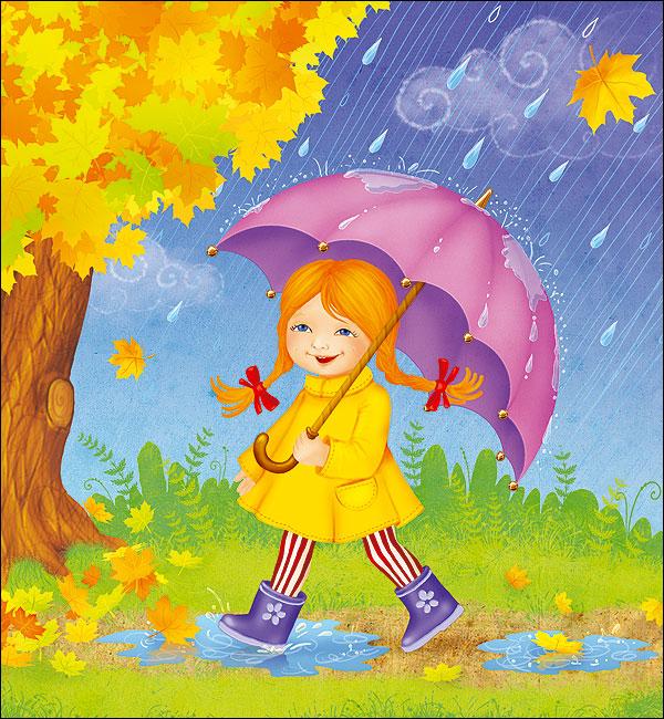 рисунки детские осень фото