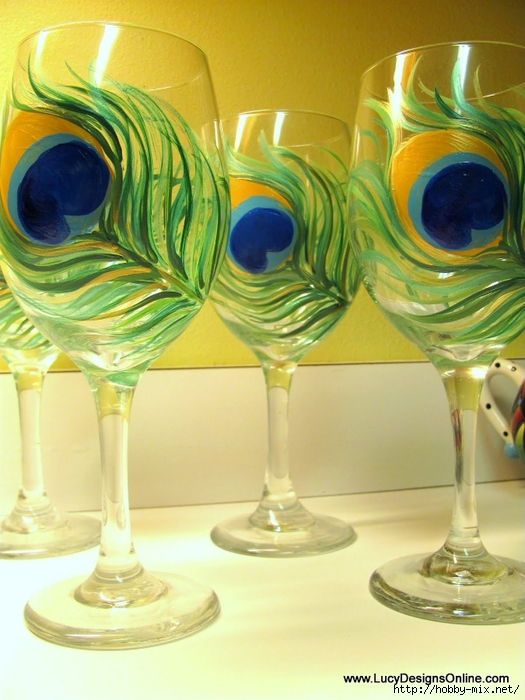 peacock wine glasses 035 (525x700, 271Kb)