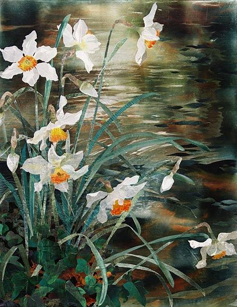narcissi-beside-river_600 (463x600, 217Kb)