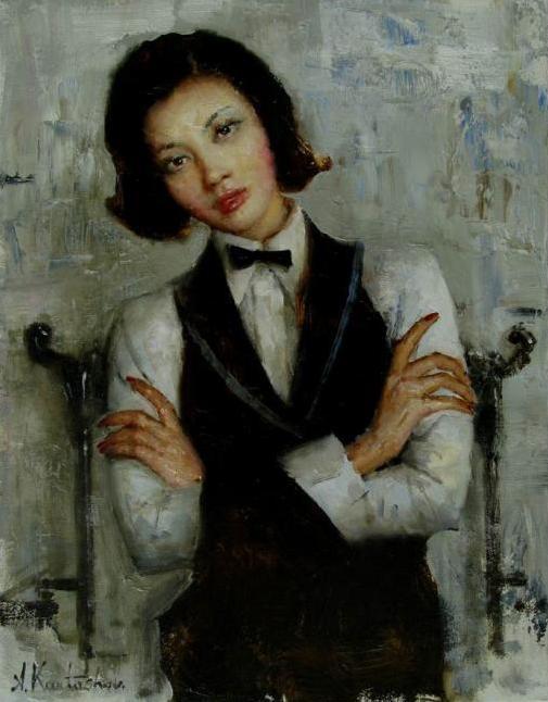 Карташов Андрей. Девушка в китайском кресле (505x646, 195Kb)