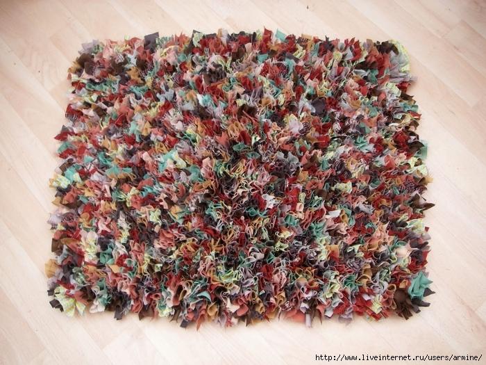 Лохматый коврик своими руками
