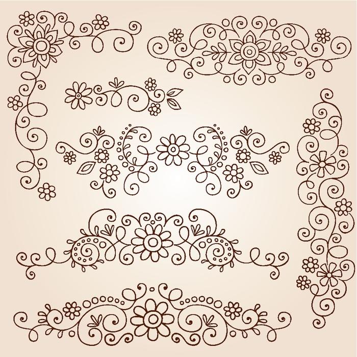 Орнамент узоры росписи