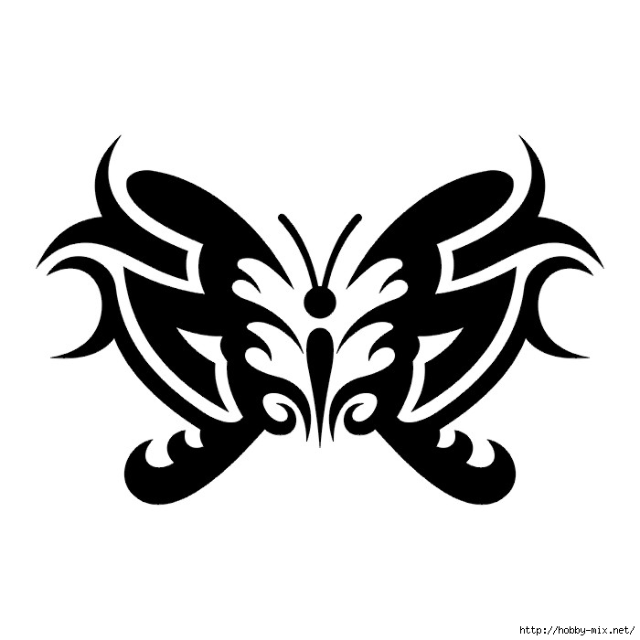 tribal butterfly tattoos - 700×700