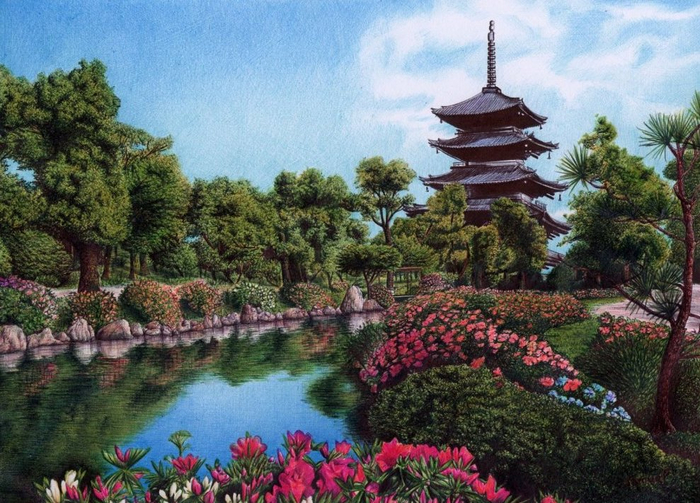 1347269506_palace_garden_in_kyoto__japan__bic_ballpoint_pen_by_vianaarts-d4n87wy (700x503, 448Kb)