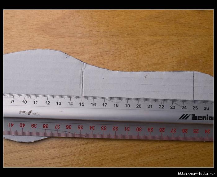 Плетение из газет. ТУФЕЛЬКА на шпильке. Мастер-класс (6) (700x571, 247Kb)