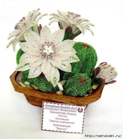 Кактус из бисера - Самое интересное в блогах