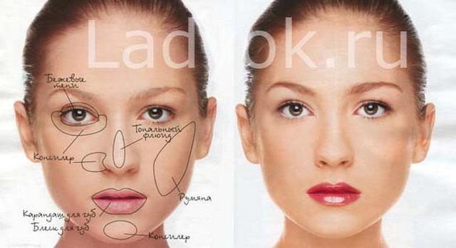 Как сделать макияж для круглого и овального лица 79