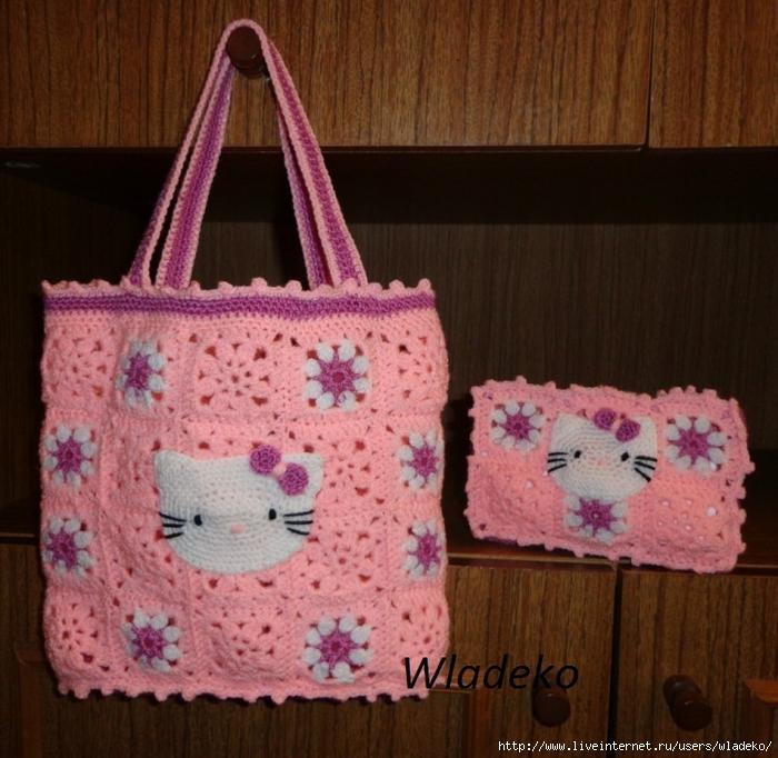 89924d815694 сумочка и косметичка крючком - Самое интересное в блогах
