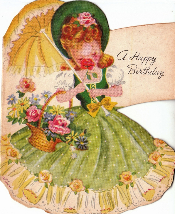Надписью, старинная открытка днем рождения