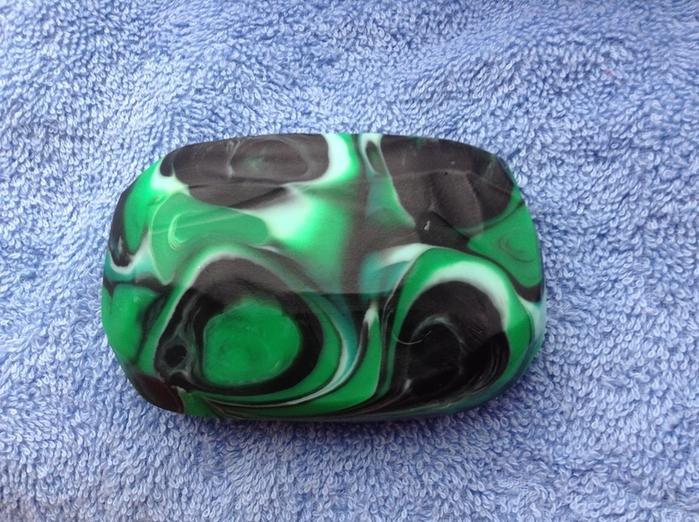 Зеленый камень своими руками 163