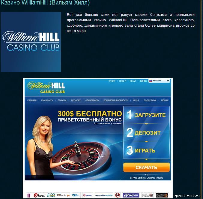 William hill casino club support