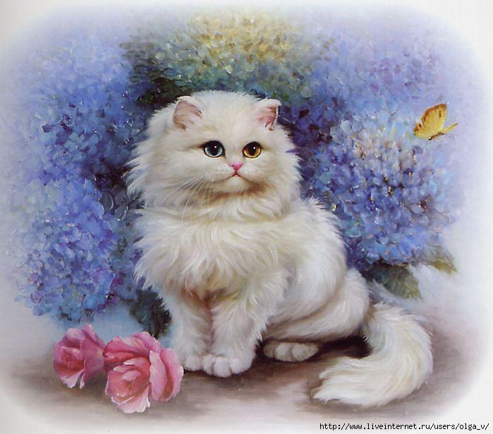 Картинки для декупажа Кошки - 534 фото
