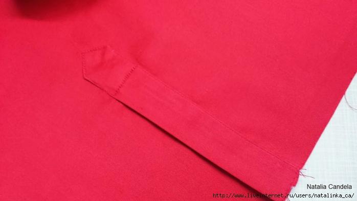 Обработка шлицы на рукавах в мужской рубашке