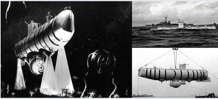 батискаф триест марианская впадина фотографии выходящий южного