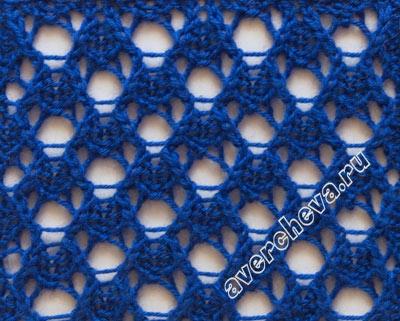 вязание ажурной сетки