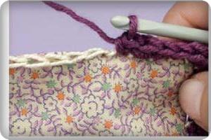 Вязание крючком с использованием натуральной кожи