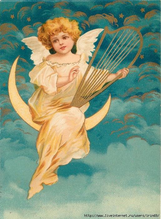 Надписью что, старинные открытки с ангелом