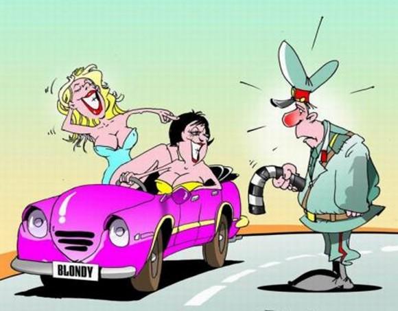 Картинки женщина за рулем карикатура